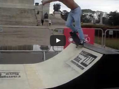 "Skate no Museu - Mini ramp - Ramp in Box modelo ""BOSS"" - Virada Esportiva - Role #2"