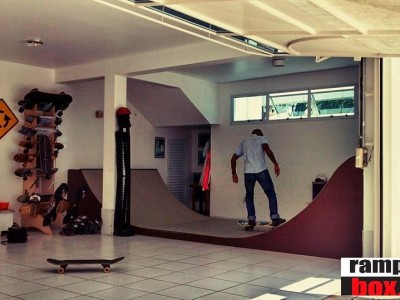 "1° Lançamento de 2015, Mini ramp modelo ""AAUP"" cor Chocolate - Mini ramp Exclusivo Ramp in Box."